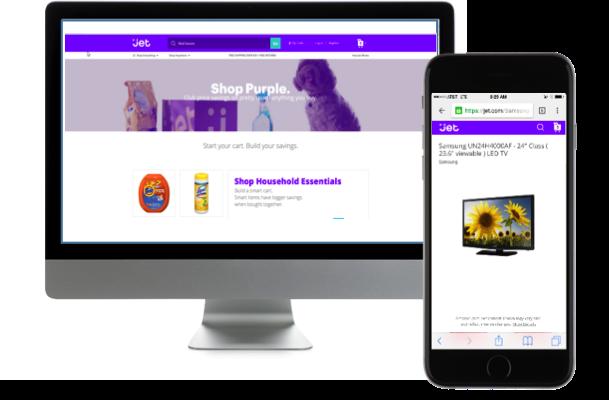 Jet.com Marketplace web and app screenshot
